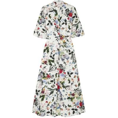 アーデム ERDEM ロングワンピース&ドレス ホワイト 6 コットン 100% ロングワンピース&ドレス