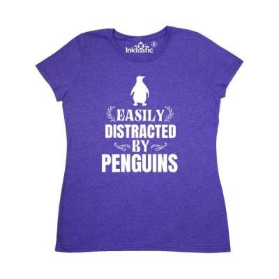 レディース 衣類 トップス Easily Distracted by Penguins Women's T-Shirt Tシャツ