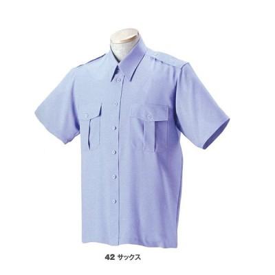 紳士服 警備服 18303 ジーベック 無地半袖シャツ