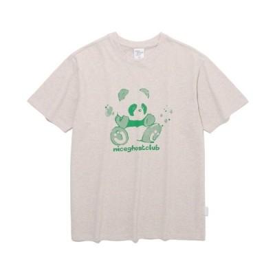 tシャツ Tシャツ 【ISTKUNST / nice ghost club】PANDA BUBBLE TEE / ナイスゴーストクラブ パンダ バブル