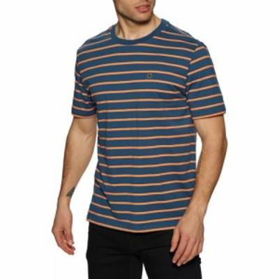 ブリクストン Brixton メンズ Tシャツ トップス hilt shield knit short sleeve t-shirt Joe Blue