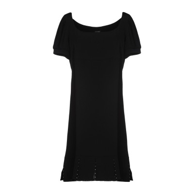 ツインセット シモーナ バルビエリ TWINSET ミニワンピース&ドレス ブラック 42 アセテート 71% / レーヨン 29% ミニワンピース