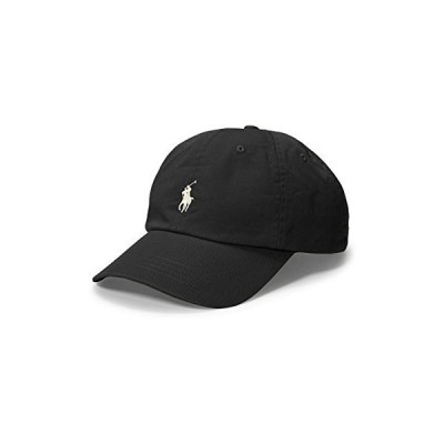 Ralph Lauren Mens Polo Sports Pony Logo Hat Cap (One Size, Black (White Pony))