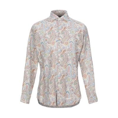TINTORIA MATTEI 954 シャツ ホワイト 39 リネン 55% / コットン 45% シャツ