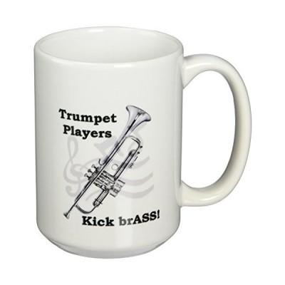 (440ml) - 3dRose Trumpet Players Kick BrASS Mug, 440ml