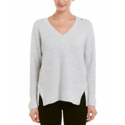 ファッション ドレス Acrobat Cold-Shoulder Wool-Blend Sweater S Grey