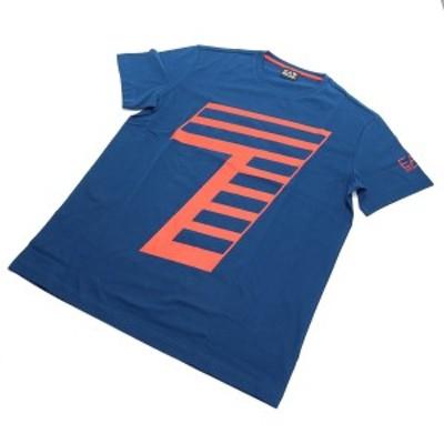 #XXLサイズ イーエーセブン EA7 メンズ-Tシャツ 6HPT33 PJ2NZ 1546 BLUE OPAL ブルー系 メンズ ts-01   big-01 sale-8