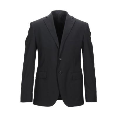 STEVE&COLLINS テーラードジャケット ブラック 48 バージンウール 100% テーラードジャケット
