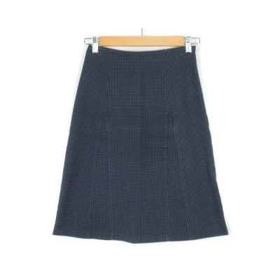 【中古】ロペ ROPE スカート ドット 刺繍 コットン 63-90 紺 ネイビー レディース 【ベクトル 古着】