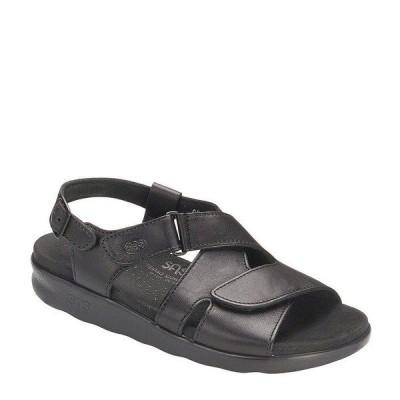 エスエーエス レディース サンダル シューズ Huggy Leather Sandals Black