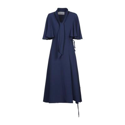 ヴァレンティノ VALENTINO 7分丈ワンピース・ドレス ブルー 42 シルク 100% 7分丈ワンピース・ドレス
