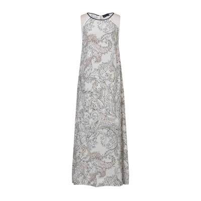 ピアッツァ センピオーネ PIAZZA SEMPIONE ロングワンピース&ドレス ライトグレー 42 コットン 100% ロングワンピース&ドレス
