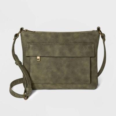 ユニバーサルスレッド Universal Thread レディース ショルダーバッグ バッグ Zip Closure Crossbody Bag - Green Olive