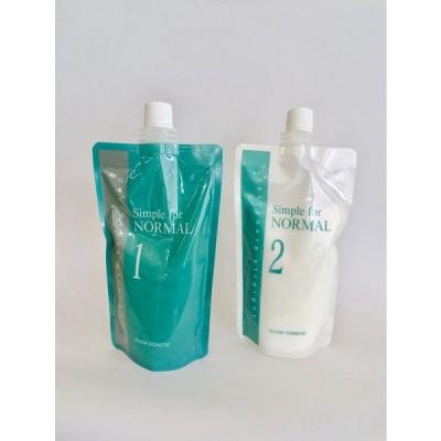 普通毛に最適 縮毛矯正 デジタルパーマ 兼用 ルノン シンプルフォーノーマル 5人用 デザイナーストレート 1剤・2剤セット 理美容室プロ用 業務用