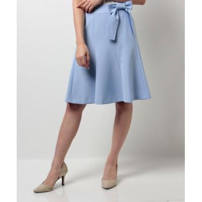 【ピッコラドンナ】 《ご自宅で洗える》ストレッチパウダークロススカート レディース ブルー 2号(9号) Piccola Donna