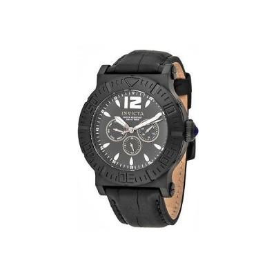 メンズ 腕時計 インヴィクタ New Mens Invicta 14918 Specialty Multi Function Black Dial Black Leather Watch