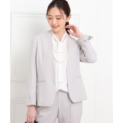 Reflect(リフレクト) 【フォーマル/入卒/ママスーツ/洗える】カラーレスツイルジャケット