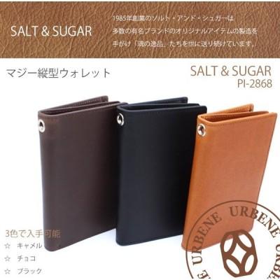ソルト & シュガー 二つ折り財布 salt & sugar PIN ピン マジー縦型ポケット付きウォレット pi-2868 送料無料 革財布 おしゃれ
