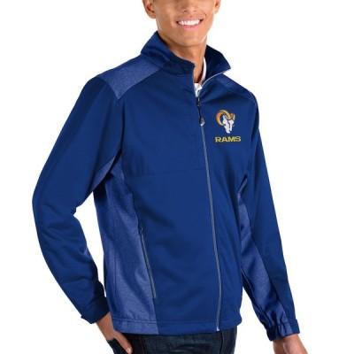 """メンズ ジャケット """"Los Angeles Rams"""" Antigua Revolve Full-Zip Jacket - Heather Royal"""