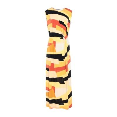 PAOLO CASALINI ロングワンピース&ドレス イエロー S ポリエステル 95% / ポリウレタン 5% ロングワンピース&ドレス