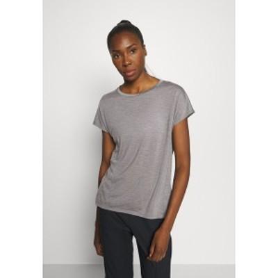 フーディニ レディース シャツ トップス ACTIVIST TEE - Basic T-shirt - soft grey soft grey