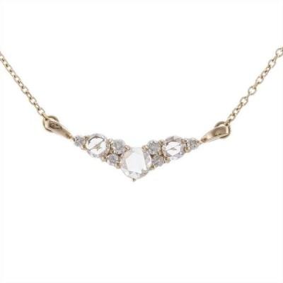 K18PG ピンクゴールド ダイヤモンド 0.27ct ネックレス 6EAU4178560-AB 天然石