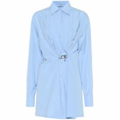 プラダ Prada レディース ブラウス・シャツ トップス Embellished cotton shirt Azzurro