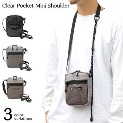 【限定特価品】 ミニバッグ ミニショルダーバッグ メンズバッグ クリアポケット ドローコード タウンユース スポーティー コンパクト 軽量
