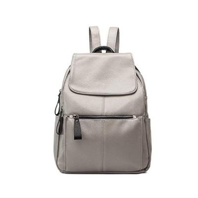 Tisdaini レディース新しい ファッション複合牛革 学生バッグ旅行用バックパック