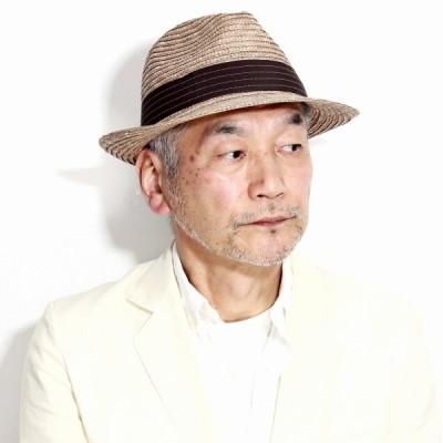 ストローハット メンズ 中折れ 春 夏 父の日 天然草 紫外線対策 帽子 ハット 麦わら帽子 メンズ ストローハット 麦わら帽子 メンズ 茶 ブラウン