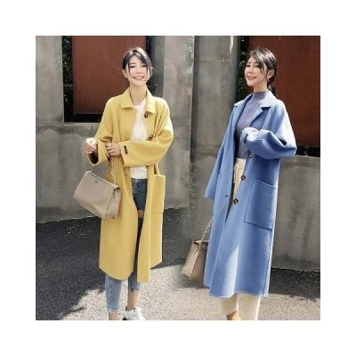 チェスターコート レディース アウター ロング シンプル ルーズ ゆったり 羽織 体型カバー 秋冬 Good Clothes