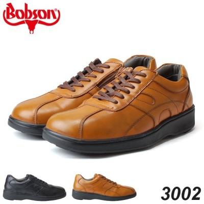 ボブソン 3002 メンズスニーカー BOBSON ブラック ブラウン ファスナー 4E 18SS04