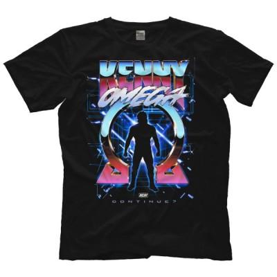 AEW Tシャツ「ケニー・オメガ KENNY OMEGA Continue? Tシャツ」AEW アメリカ 直輸入 プロレス プリントTシャツ