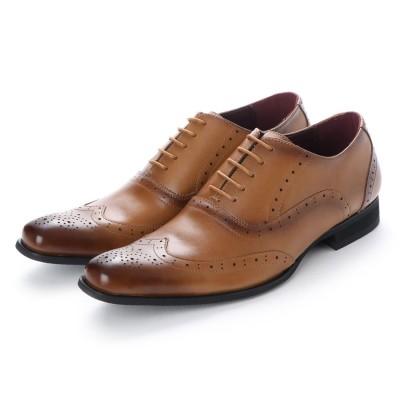 ネロ コルサロ NERO CORSARO ビジネスシューズ 本革 日本製 靴 メンズシューズ 紳士靴 抗菌 消臭 脚長 フォーマル 冠婚葬祭 ウイングチップ 内羽根 (キャメル)