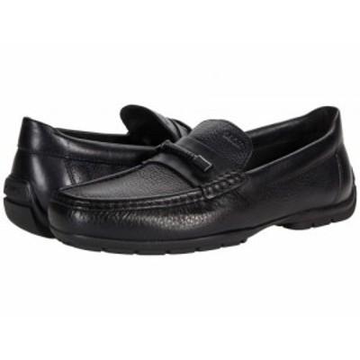 Geox ジオックス メンズ 男性用 シューズ 靴 ローファー Moner 2Fit 4 Black【送料無料】