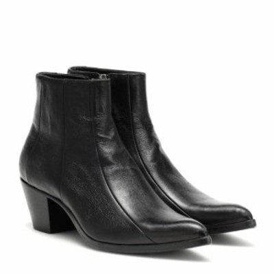 イヴ サンローラン Saint Laurent レディース ブーツ ショートブーツ シューズ・靴 Finn leather ankle boots nero