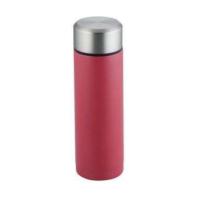コップ1杯持ち歩き プチボトル 180ml(レッド) RH-1525    4.8×4.8×15.4cm