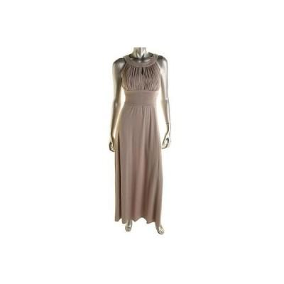 海外セレクション ドレス ワンピース Sangria 3385 レディース グレー Matte Jersey Prom ノースリーブ Evening ドレス Gown 16 BHFO