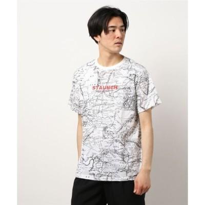 tシャツ Tシャツ 総柄ストリート半袖ビックTシャツ