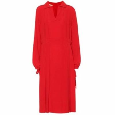 マルニ Marni レディース ワンピース ワンピース・ドレス crepe dress Fiery Red