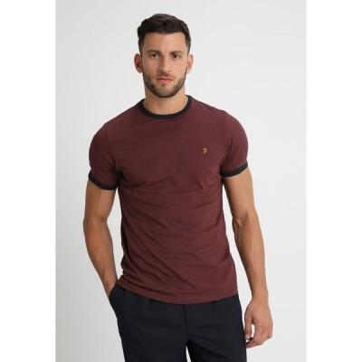 ファーラー Tシャツ メンズ トップス GROVES - Basic T-shirt - bordeaux