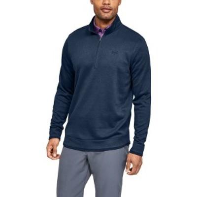 アンダーアーマー メンズ パーカー・スウェットシャツ アウター Men's SweaterFleece ½ Zip Dark Blue