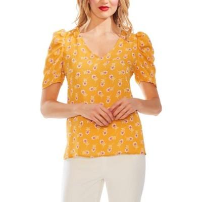 レディース 衣類 トップス Vince Camuto Womens Floral Print V-Neck Top ブラウス&シャツ