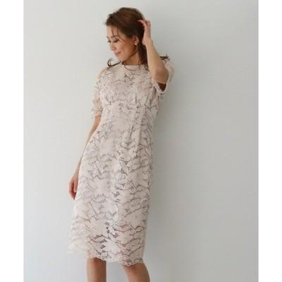ドレス コードレースショートスリーブドレス