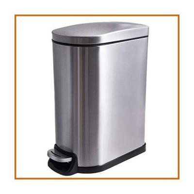 送料無料 CLTEC 長方形 バスルーム ゴミ箱 蓋付き ソフトクローズ スリムで小さなゴミ箱 取り外し可能な