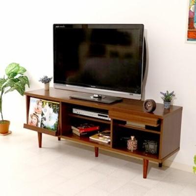 テレビ台 おしゃれ 激安 北欧 ローボード テレビボード 収納 150 脚付き 薄型 扉付き 幅150 TV台 テレビラック TVボード ダークブラウン