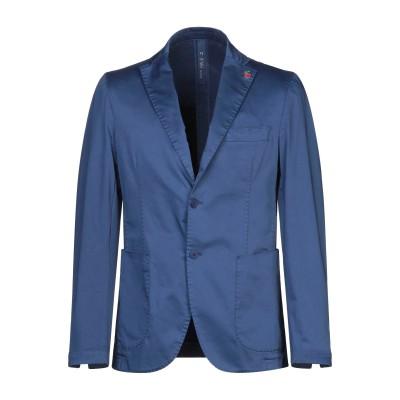 FAG テーラードジャケット パステルブルー 50 コットン 97% / ポリウレタン 3% テーラードジャケット