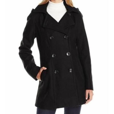 nautica ノーティカ ファッション 衣類 Nautica Womens Charcoal Black Size XS Wool Blend 3/4 Hooded Peacoat