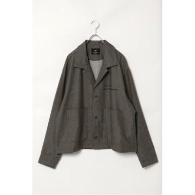 (VENCE EXCHANGE/ヴァンス エクスチェンジ)綿麻ビッグシルエットジャケット/メンズ オリーブ