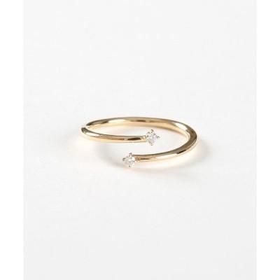 指輪 K10YG ダイヤモンド ピンキーリング